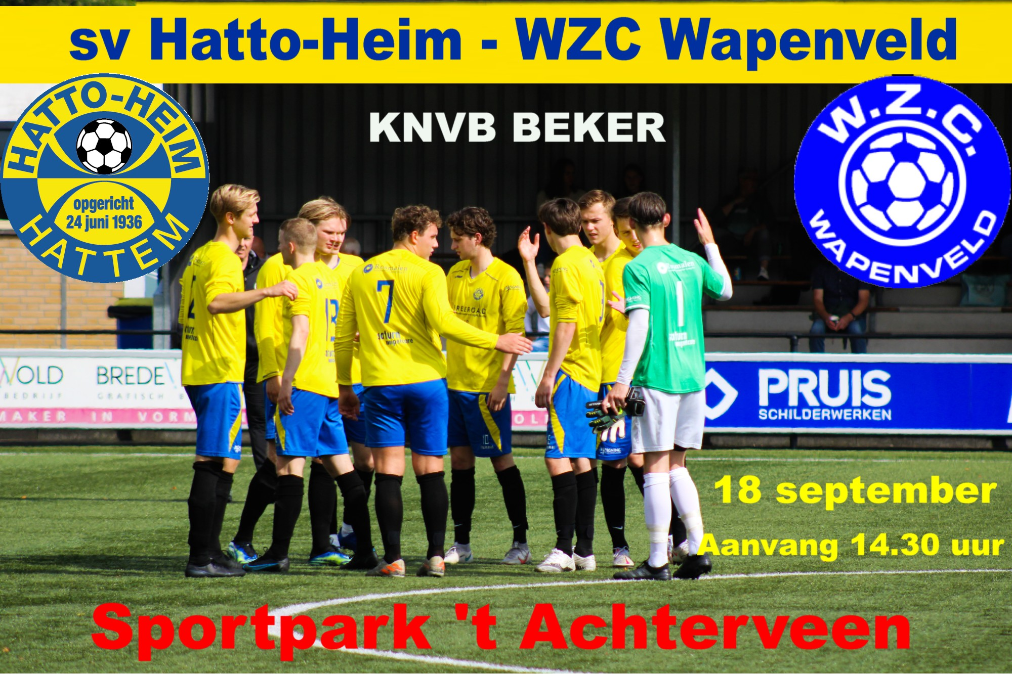 sv Hatto-Heim - WZC Wapenveld (bekerwedstrijd)