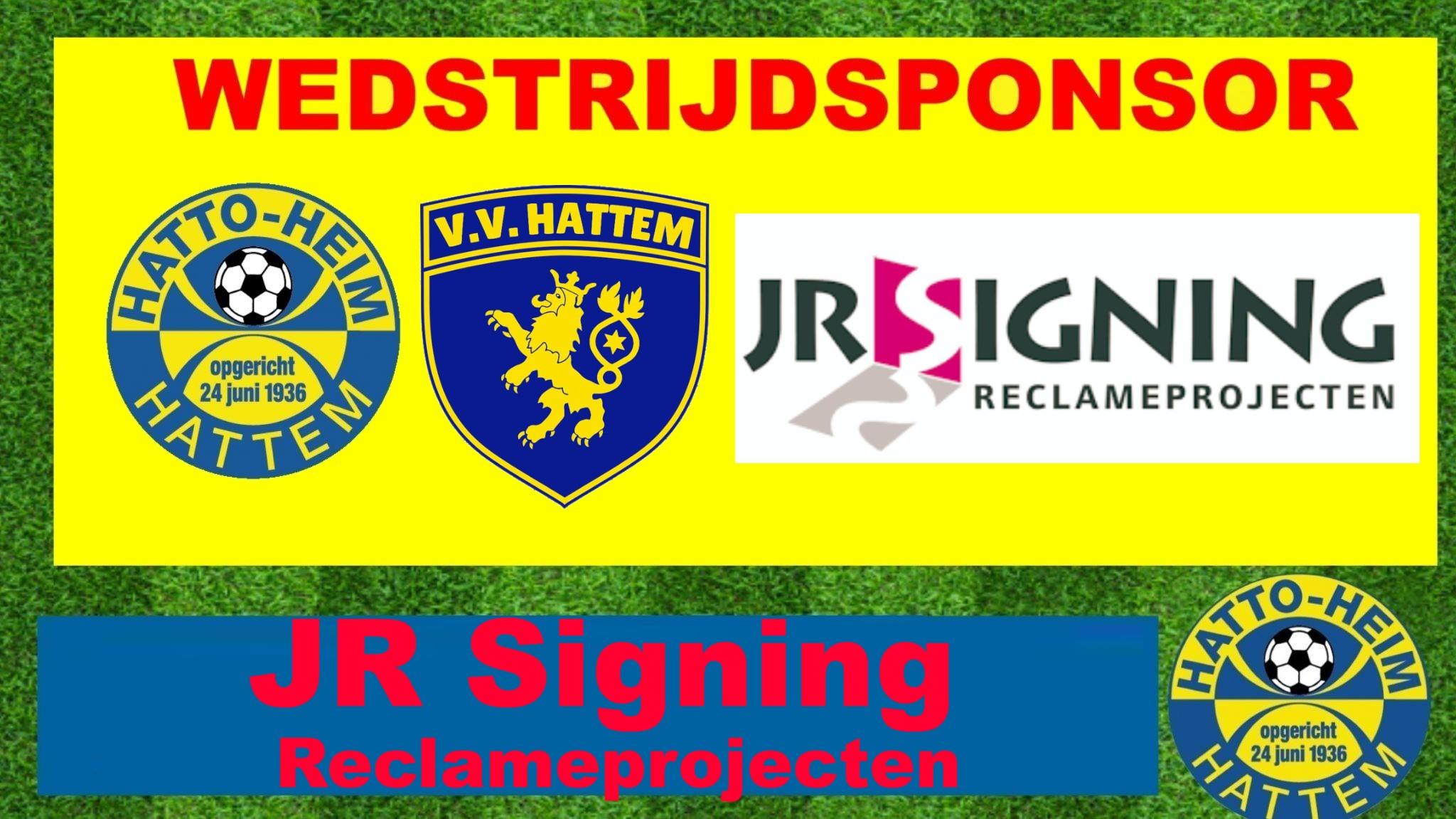 JR Signing wedstrijdsponsor sv Hatto-Heim - vv Hattem