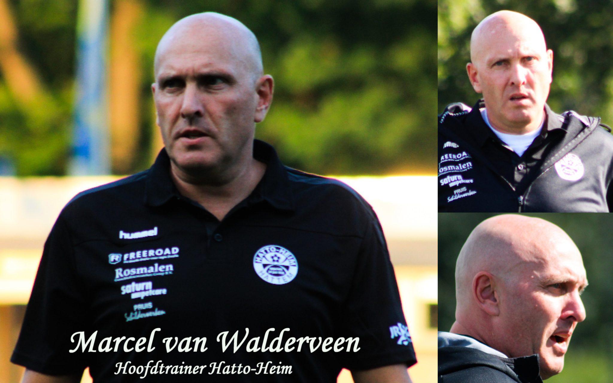 Sv Hatto-Heim en Van Walderveen blij met elkaar.