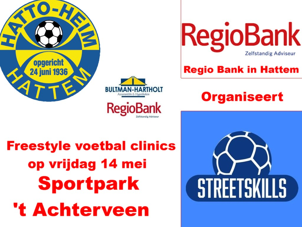 Freestyle voetbal clinics indeling.